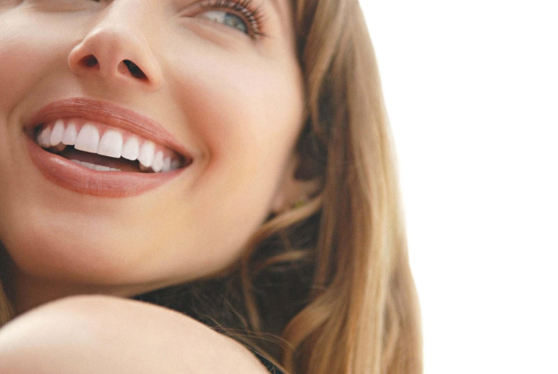 Woman smilling.