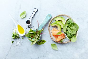Ingredients for a healthy salad.