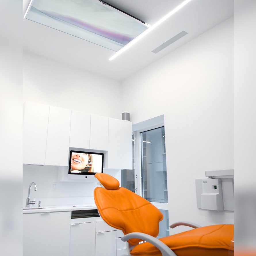Les Belles treatment room, New York.